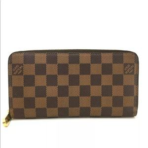 Louis Vuitton Damier Zippy Zip Around Long Wallet